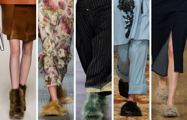 From left to right: Fendi, Gucci, Maison Margiela, Antonio Marras and Tibi. Photos: Imaxtree