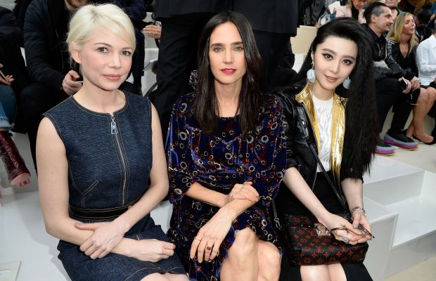 Michelle Williams, Jennifer Connelly and Fan Bing Bing at Louis Vuitton. Photo: Pascal Le Segretain/Getty Images