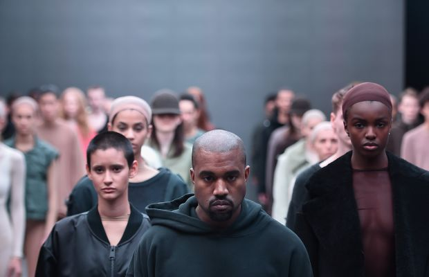 Kanye West at the Kanye West x Adidas fall 2015 show. Photo: Theo Wargo/Getty Images for adidas