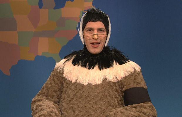Andy Samberg goose costume SNL