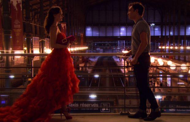 Gossip Girl Blair in a red Oscar de la Renta dress