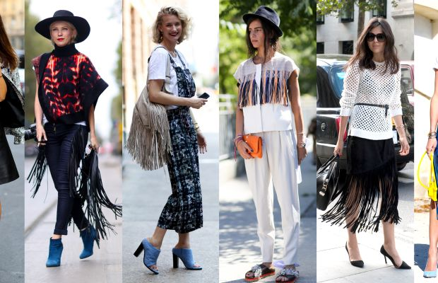Street style looks from outside the spring 2015 shows in Milan, Milan, New York, New York, London and Paris. Photos: Imaxtree