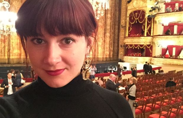 I am not too proud to #selfie, even at the Bolshoi.