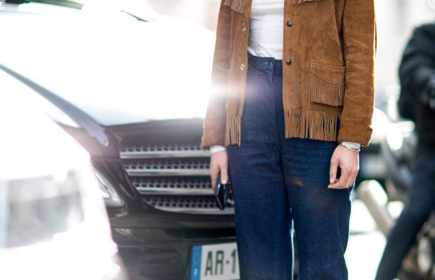 Rachael Wang at Paris Fashion Week in March 2015. Photo: Imaxtree
