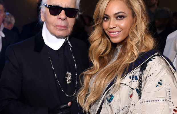 Karl Lagerfeld and Beyonce at the Chanel Metiers d'Art show in New York City. Photo: Stefanie Keenan/Getty Images