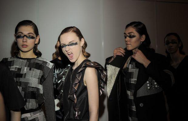 Backstage at Saint-Tokyo. Photo: Mercedes Benz Fashion Week Russia