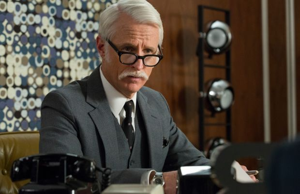 Roger Sterling's new moustache is everything. Photo: AMC
