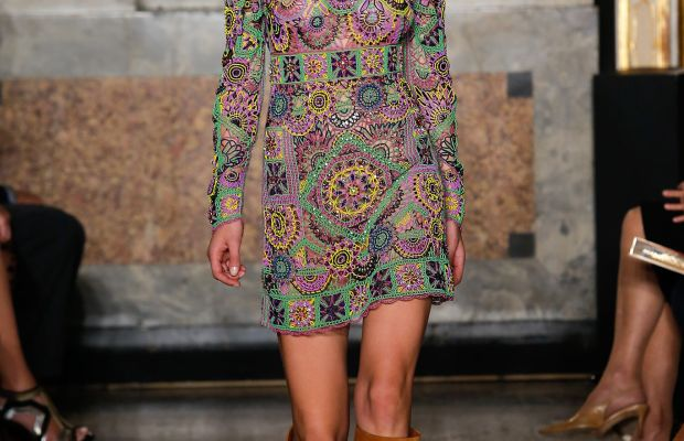 A look from Emilio Pucci's spring 2015 collection. Photo: Imaxtree