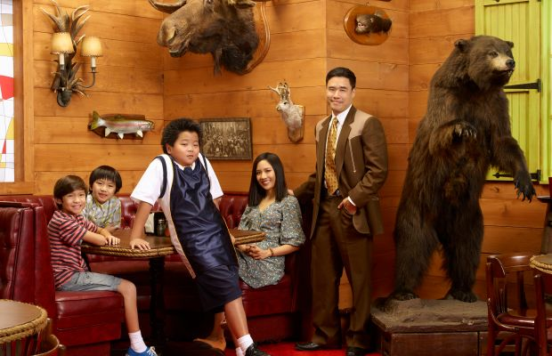 From left to right: Forrest Wheeler as Emery, Ian Chen as Evan, Hudson Yang as Eddie, Constance Wu as Jessica and Randall Park as Louis in 'Fresh Off the Boat.' Photo: ABC/Bob D'Amico