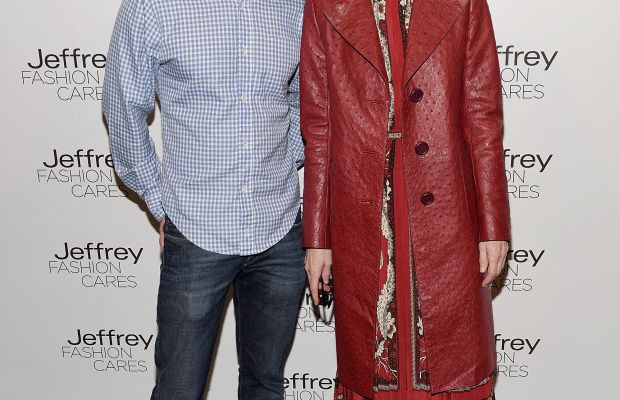 """Jeffrey Kalinsky and Anna Wintour. """"Guys in bathing suits, I'm coming for you."""" Photo: Grant Lamos IV/Getty Images"""