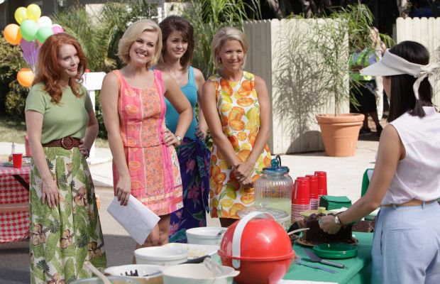 The neighborhood Stepford crew. Photo: ABC/Nicole Wilder