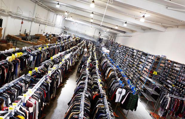 The RealReal warehouse in San Francisco. Photo: The RealReal