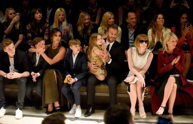 The Beckham family and Anna Wintour. Photo: Burberry