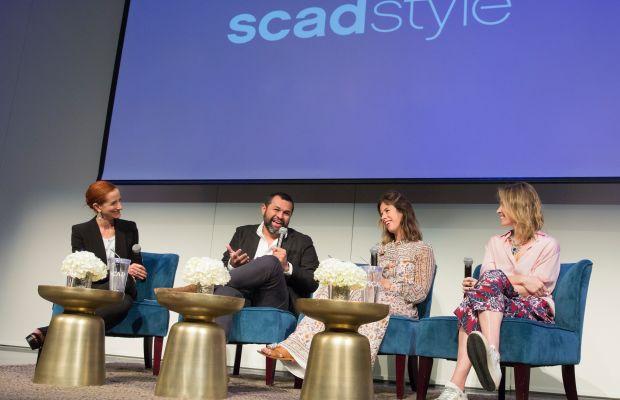 Vanessa Friedman, Juan Carlos Obando, Irene Neuwirth and Brett Heyman on stage at SCADstyle. Photo: SCAD