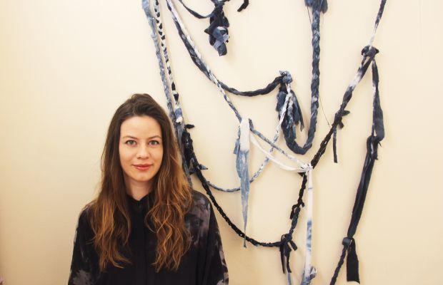 Kalen Kaminski and one of her tie-dye art projects. Photo: Kalen Kaminski/Upstate
