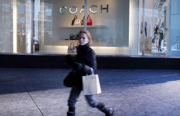 A Coach store in New York City. Photo: Spencer Platt/Getty Images
