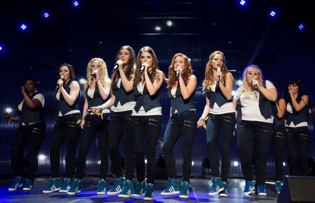 Pitch Perfect 2 Bellas on stage