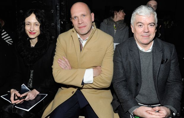 Style.com's Nicole Phelps, Dirk Standen and Tim Blanks in 2012. Photo: Rabbani and Solimene Photography/Stringer