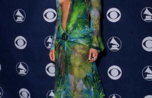 Jennifer Lopez in Versace at the 2000 Grammy Awards. Photo: Steve Granitz/WireImage