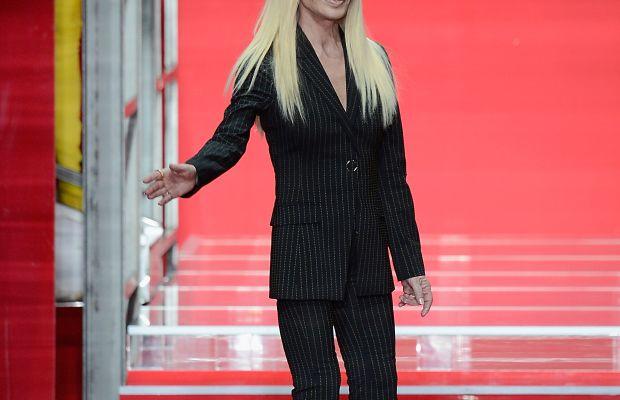 Donatella Versace in February. Photo: Pietro D'Aprano/Stringer