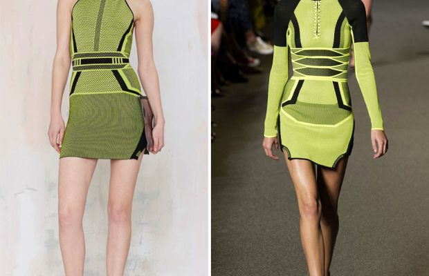Left: Nasty Gal. Right: Alexander Wang.
