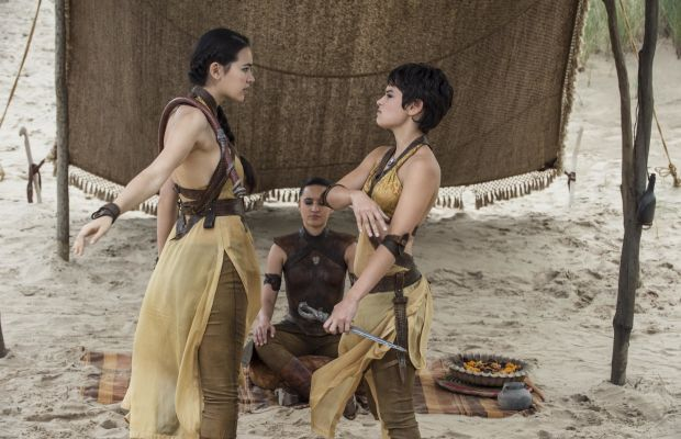 Meet the Sand Snakes. Photo: Helen Sloan/HBO