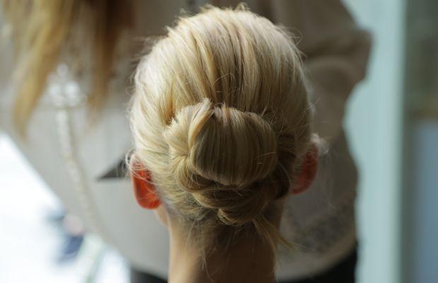 Caroline Trentini's finished hair. Photo: Andrew Lampard/Fashionista