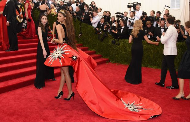 Zendaya at the Met Gala in Fausto Puglisi. Photo: Larry Busacca/Getty Images