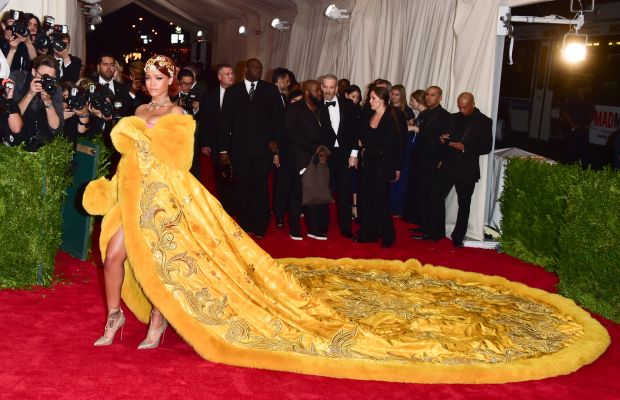 Rihanna at the Met Ball. Photo: George Pimentel/Getty Images