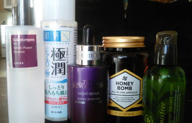 Essences and ampoules. Photo: Jude Chao