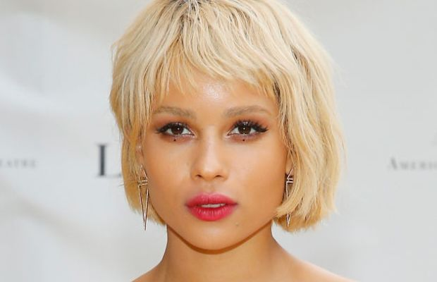 Zoe Kravitz goes extremely blonde. Photo: John Lamparski/WireImage/Getty Images