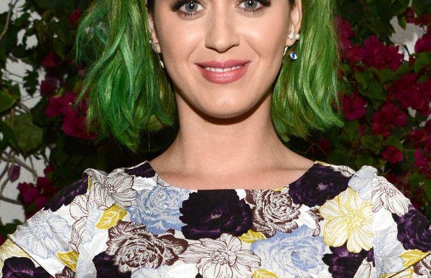 Katy Perry, with on-purpose green hair. Photo: Araya Diaz/Getty