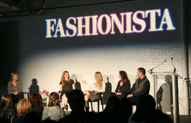 """Writer Hayley Phelan with the founders of 'Well + Good,' Luli Tonix, Live the Process and Heyday at our 2015 """"How to Make It in Fashion"""" conference in New York City. Photo: Fashionista"""