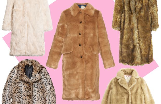 TOP LEFT: & Other Stories faux fur coat, $275, available at & Other Stories;CENTER: Trademark faux fur coat, $698, available at Trademark;TOP RIGHT: Whistles wolfie faux fur coat, $560, available at Whistles;BOTTOM LEFT: Aritzia Beckledge coat, $198, available at Aritzia; BOTTOM RIGHT: Kate Spade blonde mink coat, $798, available at Kate Spade.