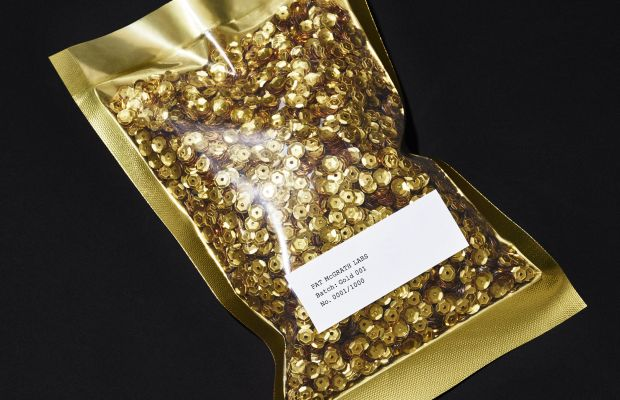 """Mysterious pouch of """"couture"""" sequins. Photo: Pat McGrath Labs"""