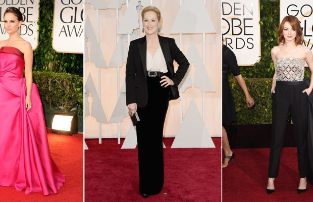 Actresses Natalie Portman, Meryl Streep and Emma Stone have frequently worn Alber Elbaz's designs for Lanvin on the red carpet. Photos: Getty Images