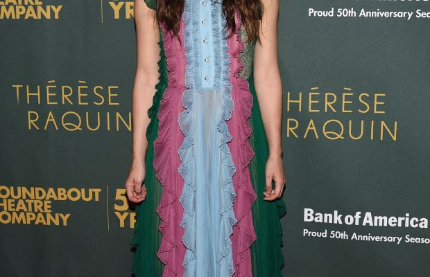 Keira Knightley in Gucci. Photo: Bryan Bedder/Getty Images for FIJI Water