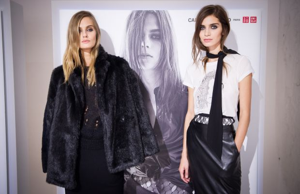 Models in Carine Roitfeld x Uniqlo. Photo: Francois Durand/Getty Images