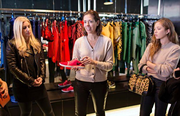 Vice President of Global Design for Nike Women's Training Julie Igarashi with Nike's upcoming Lunar Sculpt shoe. Photo: Nike