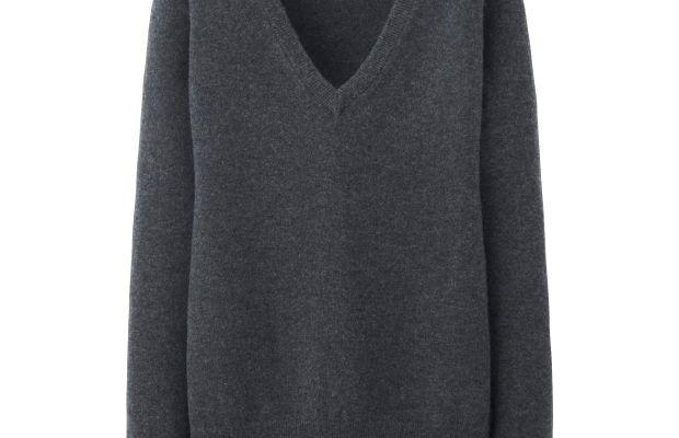 Uniqlo Cashmere V-Neck Sweater, $79.90, available at Uniqlo.