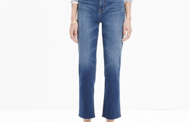 """Madewell 11"""" high riser crop flares, $135, available at Madewell."""