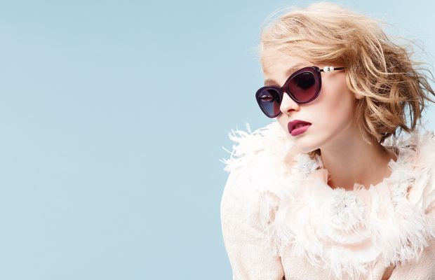 Lily-Rose Depp for Chanel eyewear. Photo: Karl Lagerfeld/Chanel