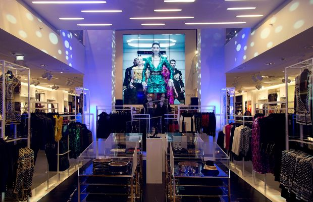 The calm before the storm. An H&M location in Vienna, Austria with the Balmain x H&M collection. Photo: Mathias Kniepeiss/Getty Images
