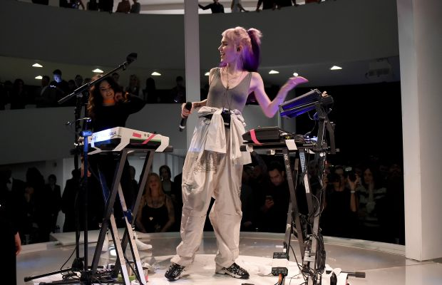 Grimes performs at the Guggenheim on Wednesday night. Photo: Getty Images