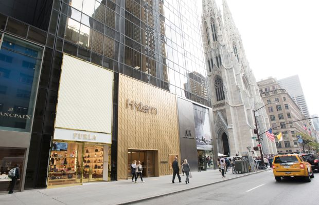 Furla's New York City flagship is located just north of St. Patrick's Cathedral on Fifth Avenue. Photo: Furla