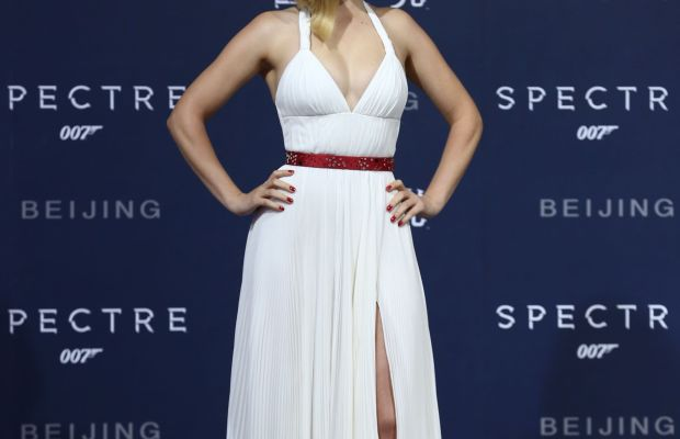 "Léa Seydoux in Prada at ""Spectre""'s Beijing, China premiere on Thursday. Photo: Prada"