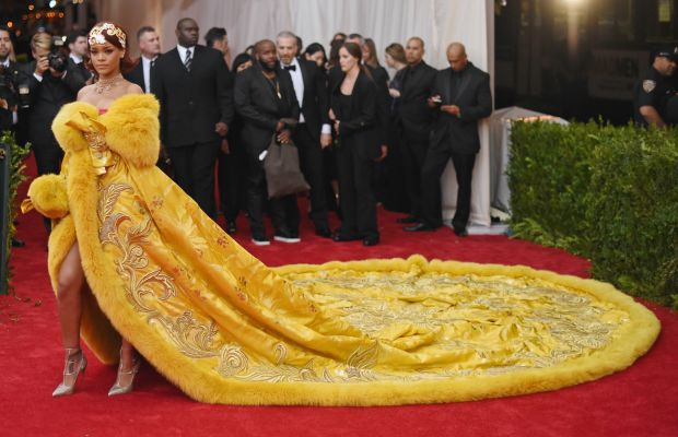 Rihanna in Guo Pei at the 2015 Met Gala in New York City. Photo: Mike Coppola/Getty Images