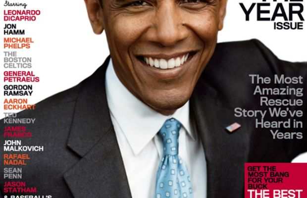 President Obama on the cover 'GQ''s 'Men of the Year' issue in 2008. Photo: 'GQ'