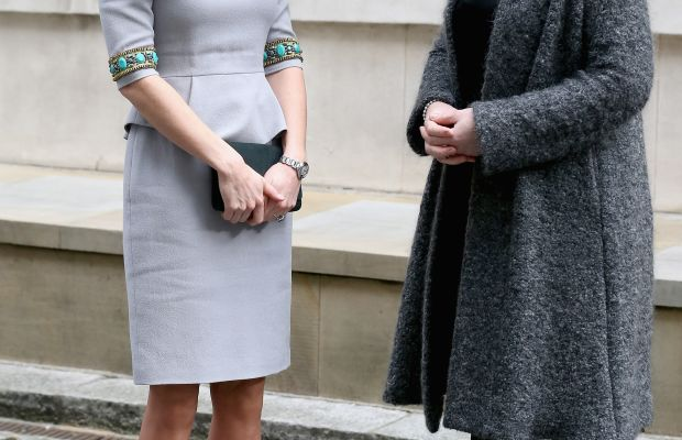 The Duchess of Cambridge and Place2Be Chief Executive Catherine Roche. Photo: Chris Jackson/Getty Images