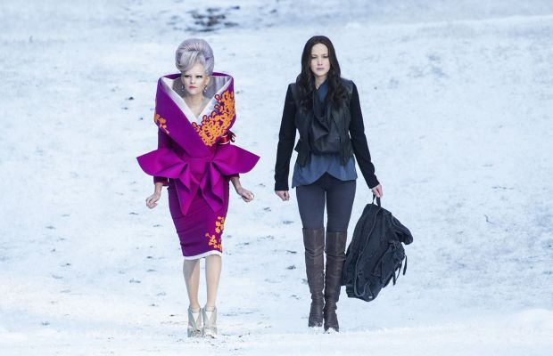 Effie coordinated her hair with the snow because she's basically Mother Earth. Photo: Hunger Games/Facebook